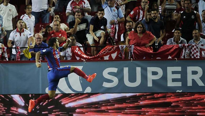 برشلونة يهزم إشبيلية في ذهاب السوبر الإسباني