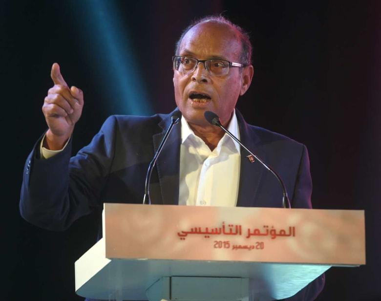 المرزوقي يتهم رئاسة الجمهورية بالتدخل لإلغاء بث حوار أجراه مع قناة