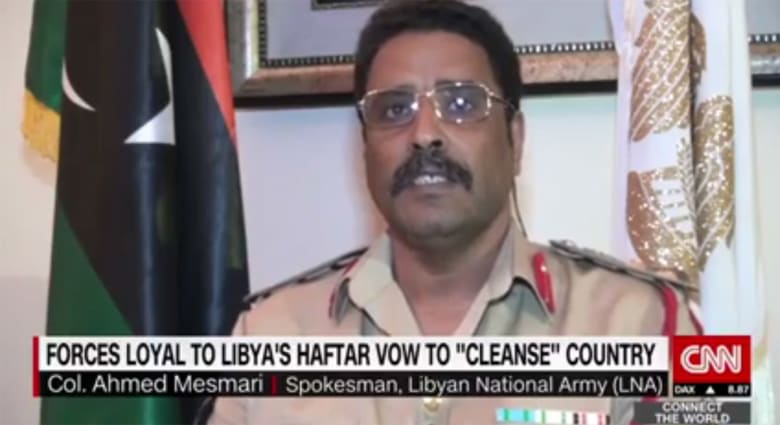 متحدث باسم قوات حفتر لـCNN: سنحرر البلاد من الإرهاب