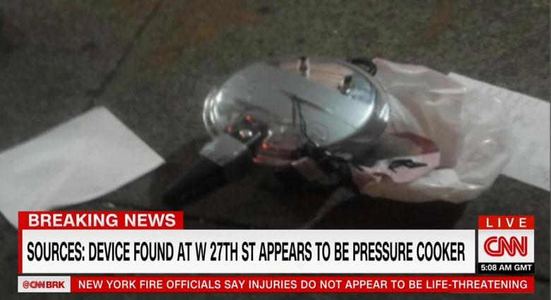 """مصادر لـCNN: العثور على """"طنجرة ضغط"""" قرب موقع انفجار مانهاتن"""