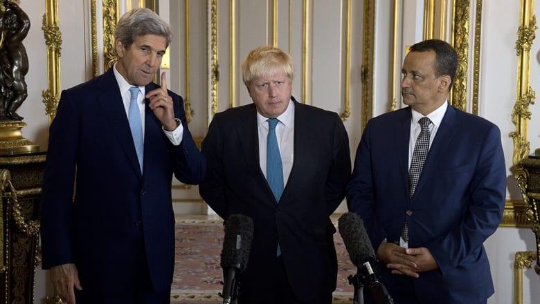 كيري: حان الوقت لوقف إطلاق النار في اليمن