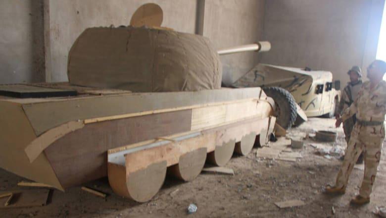 الجيش العراقي: داعش يستخدم دبابات وأسلحة خشبية وبلاستيكية للتمويه