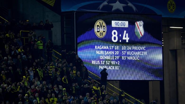 لقاء دورتموند وليغيا يشهد أكبر عدد أهداف بتاريخ دوري الأبطال