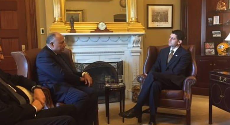 الخارجية المصرية: الكونغرس الأمريكي يدعم السيسي.. وشكري يؤكد على أهمية استمرار مساعدات واشنطن لمصر
