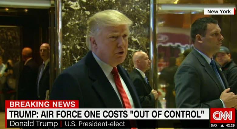 """ترامب: طائرات """"سلاح الجو 1"""" الرئاسية من بوينغ تكلف أكثر من 4 مليارات دولار؟ ألغوا الطلب!"""