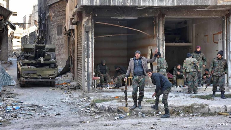 الجيش الروسي: النظام السوري يسيطر على 93% من شرق حلب