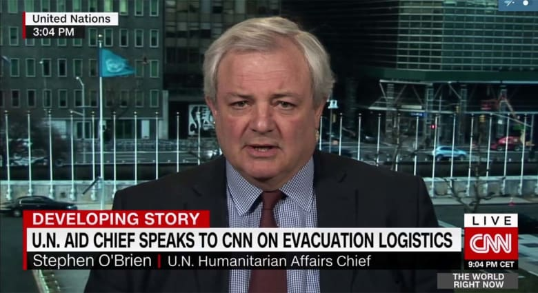 مسؤول أممي يعلق لـCNN على تقارير تعذيب وإعدامات بعمليات الإجلاء شرق حلب