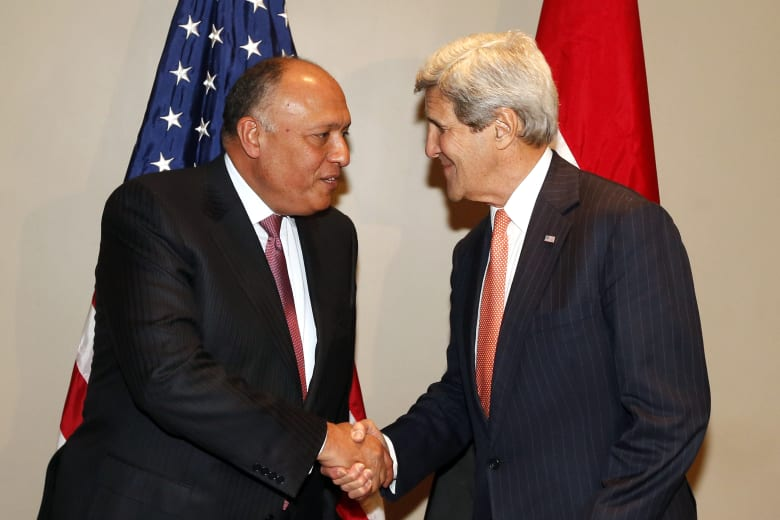 بعد تصريحات كيري حول الصراع الإسرائيلي الفلسطيني .. مصر: موقف أمريكا يتسق مع رؤيتنا والعبرة بإرادة التنفيذ