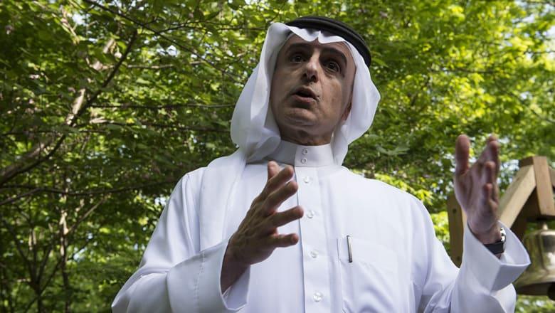 """الجبير يوضح موقف السعودية بـ""""السلام الإسرائيلي الفلسطيني"""": الحل موجود"""