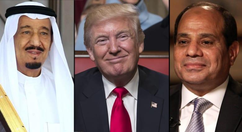 الملك سلمان والسيسي يهنئان ترامب بتنصيبه