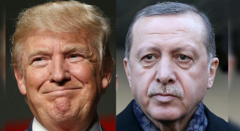 بعد مناقشته تأسيس مناطق آمنة في سوريا مع الملك سلمان.. ترامب يثير القضية مع أردوغان