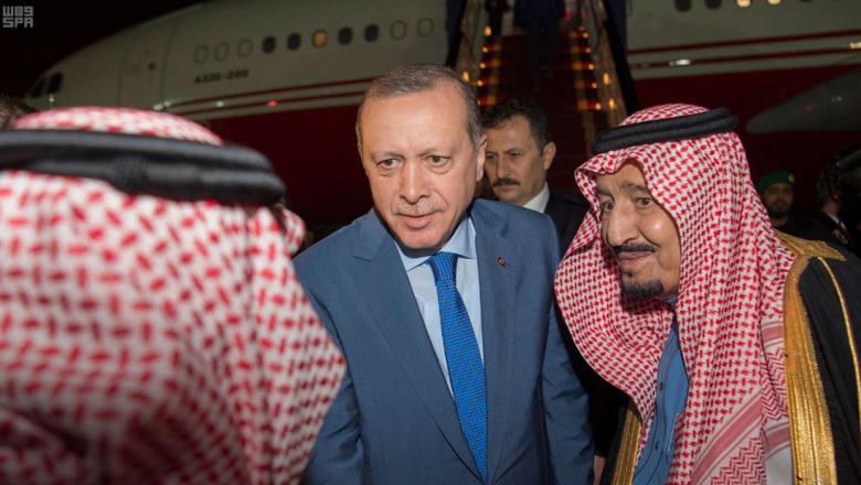 أردوغان في السعودية بعد البحرين ويعلن عن خطة للسيطرة على منبج والرقة