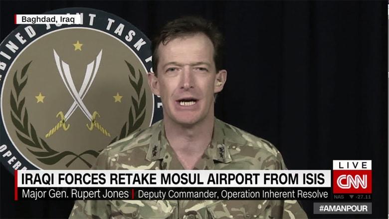 """نائب قائد عملية العزم الصلب يبين لـCNN أسلوب """"المسح التراجعي"""" للقوات العراقية ضد داعش بالموصل"""