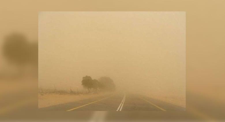 """عاصفة """"مدار"""" تضرب السعودية.. وفيديوهات تبيّن انعدام الرؤية بسبب الغبار"""