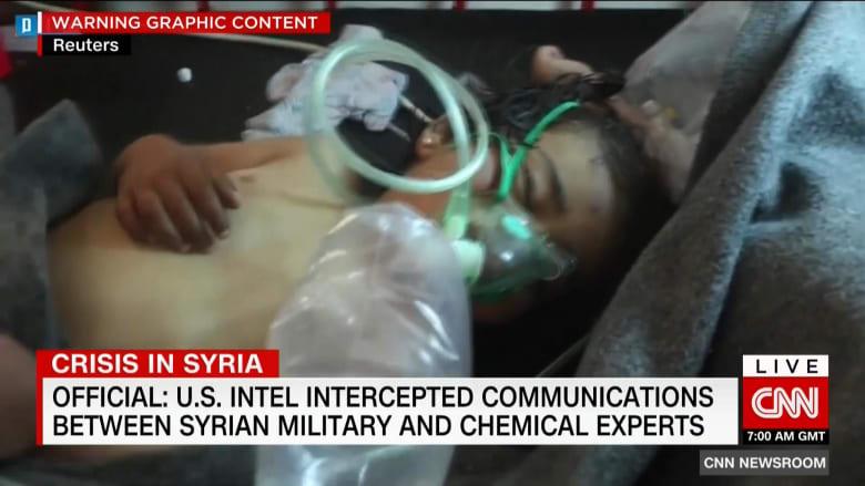 مصادر لـCNN: المخابرات الأمريكية اعترضت اتصالات بين جيش الأسد وخبراء كيماويين قبل هجوم خان شيخون