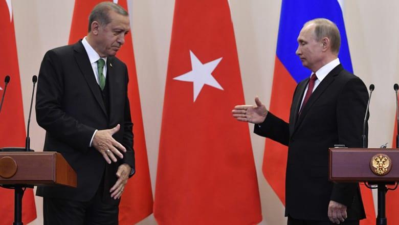 بوتين: نؤيد إنشاء مناطق خالية من الصراع في سوريا.. وأردوغان: صديقي يرغب بإنهاء المأساة
