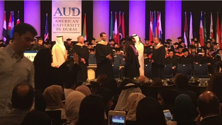 نجل دونالد ترامب لخريجي الجامعة الأمريكية في دبي: عيشوا حلمكم