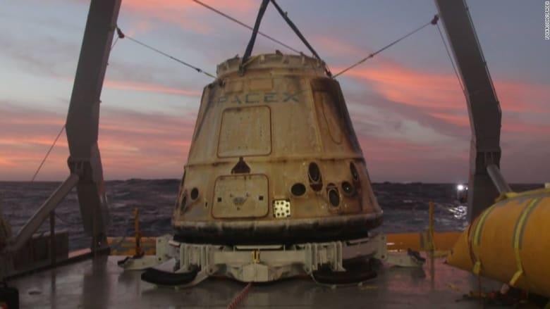 """لأول مرة..""""سبيس إكس"""" تنجح بإعادة استخدام مركبة فضائية"""