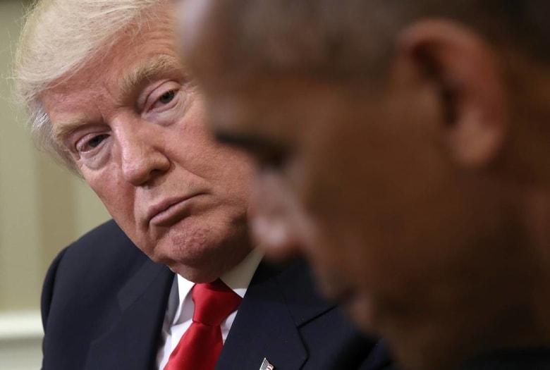 ترامب يتهم أوباما بإمكانية التواطؤ حول التدخل الروسي في الانتخابات.. ويطالب بالاعتذار