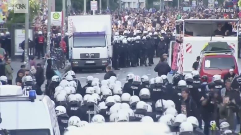 اشتباكات مع الشرطة الألمانية على هامش قمة العشرين