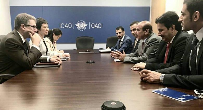 الدوحة: منظمة الطيران المدني الدولي ستبحث فتح المجالات الجوية أمام قطر