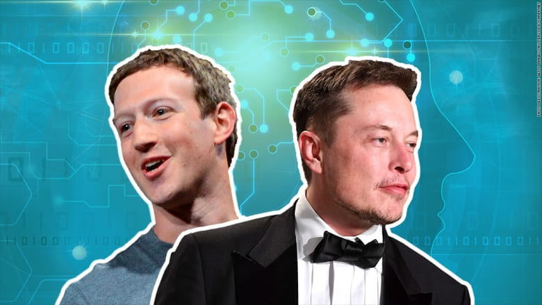 زوكربيرغ وموسك في مواجهة علنية حول الذكاء الاصطناعي
