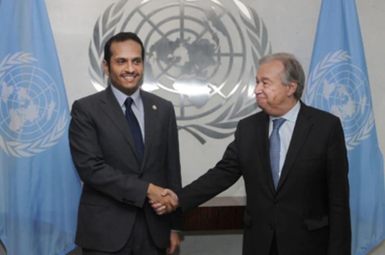 """قطر تبحث مع الأمم المتحدة طرق """"التغلب على انتهاكات الحصار"""""""