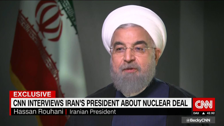 روحاني لـCNN: أمريكا ستدفع ثمنا غاليا إذا ألغى ترامب الاتفاق النووي
