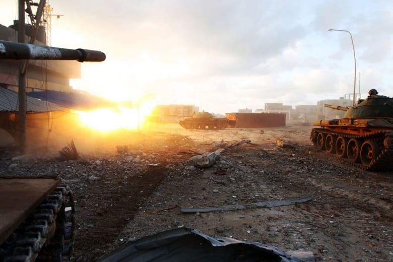 مواجهات مسلحة في صبراتة بين فصيلين يعلنان انتماءهما إلى حكومة الوفاق