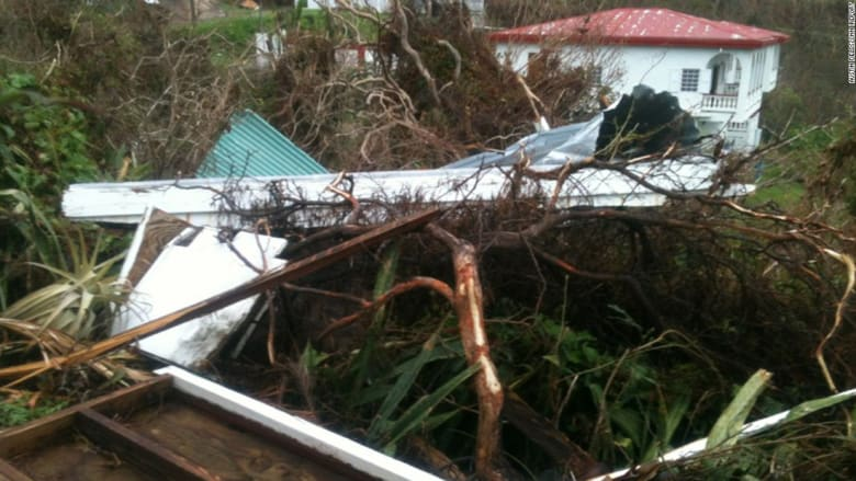 """شاهد الدمار الذي خلّفه إعصار """"ماريا"""""""