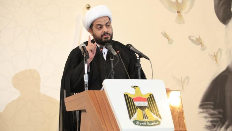 """قيس الخزعلي يلوح باستعداد الحشد الشعبي لمواجهة """"دولة البارزاني"""""""
