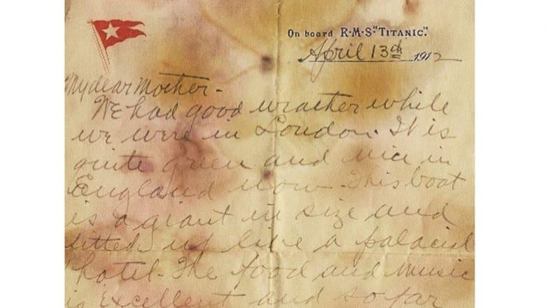 رسالة من بقايا مسافر درجة أولى في سفينة تايتانيك.. هل تخمن سعرها؟