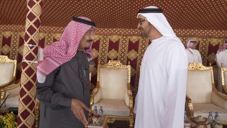 محمد بن زايد: السعودية تقود المنطقة نحو الاستقرار والتنمية.. وخالد بن أحمد: مستقبل مشرق