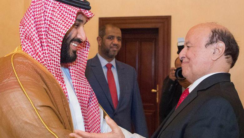 بعد شائعات الإقامة الجبرية.. الرئيس اليمني يستقبل ولي العهد السعودي