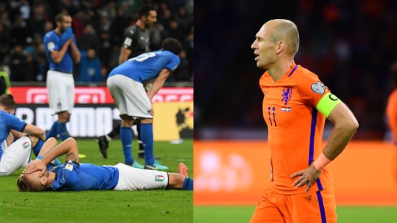 """إنجاز عربي وغياب إيطالي وهولندي.. من غير """"إعدادات"""" المونديال!"""