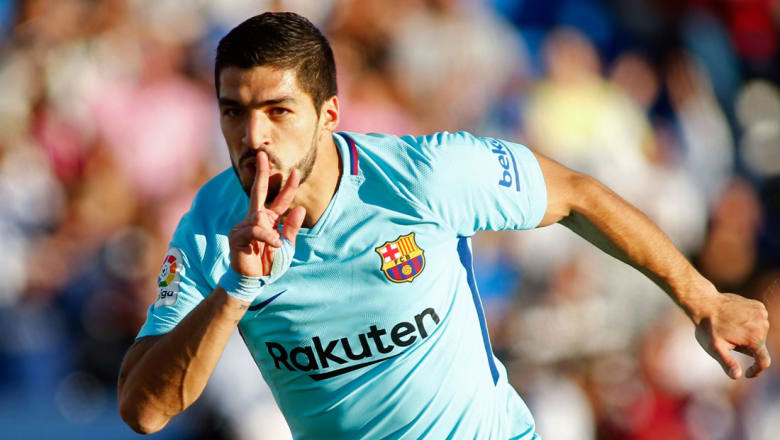 لويس سواريز يستعيد مستواه ويقود برشلونة لفوز على ليغانيس