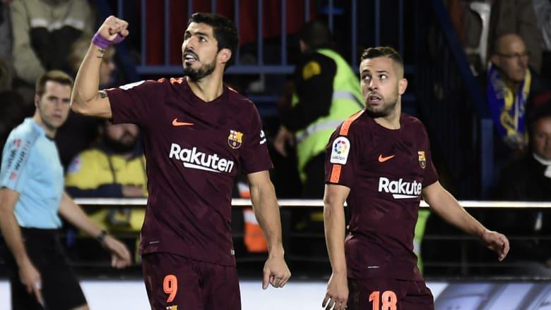 برشلونة يستعيد نغمة الانتصارات بالدوري في ليلة عودة سواريز للتسجيل