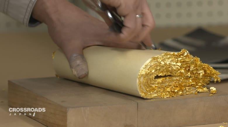 كيف تصنع أوراق الذهب في اليابان؟