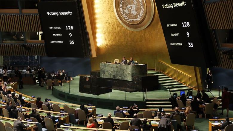 القائمة الكاملة للدول المعارضة والممتنعة عن التصويت على قرار القدس بالأمم المتحدة