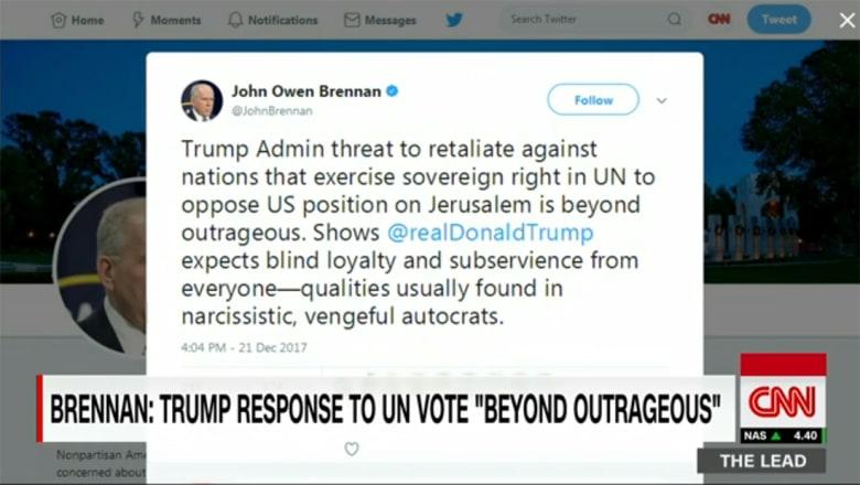 """رئيس CIA السابق: تهديد ترامب لمن يعارضه بقرار القدس """"أكثر من شائن"""""""