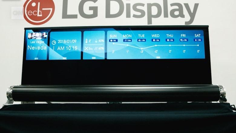 """شاهدوا شاشة """"LG"""" القابلة للف بحجم 65 إنش"""