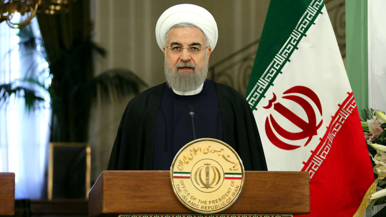 روحاني باستقبال رئيس برلمان قطر: لا نسمح بالضغط غير العادل على القطريين