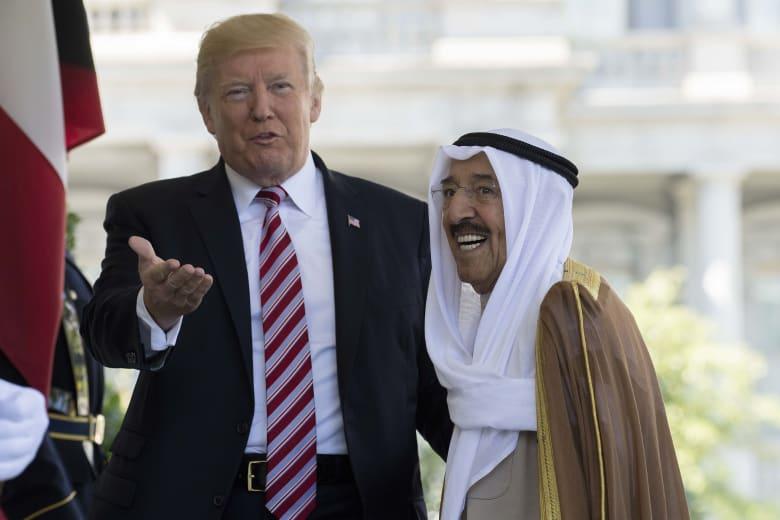 """ترامب يشكر أمير الكويت لدعم """"وحدة الخليج"""" ويستمع لتطورات الأزمة"""