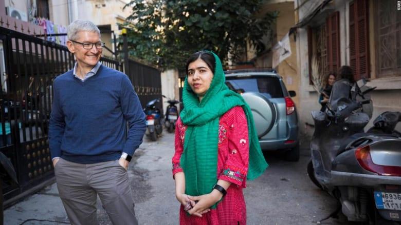 """""""آبل"""" تتعاون مع ملالا يوسف زي لتمويل تعليم الفتيات"""