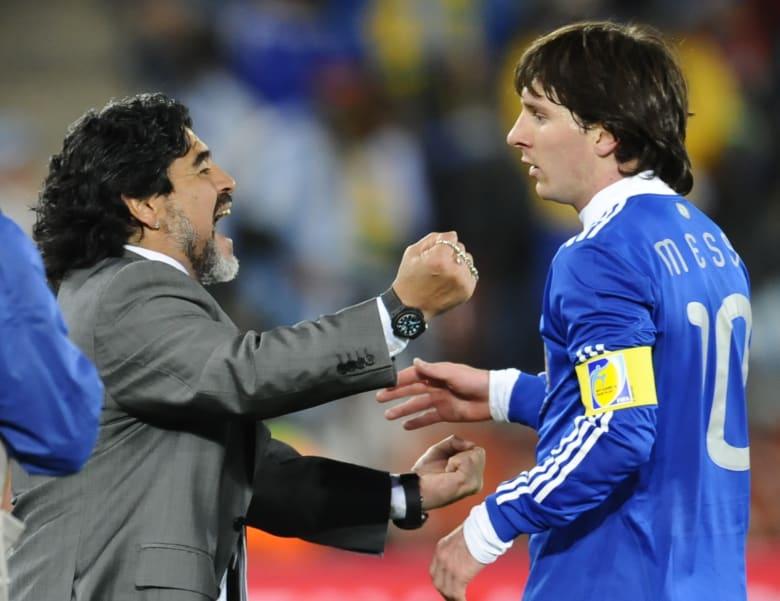 رئيس الأرجنتين: ميسي أفضل من مارادونا.. وعلينا أن ننسى وصمة العار