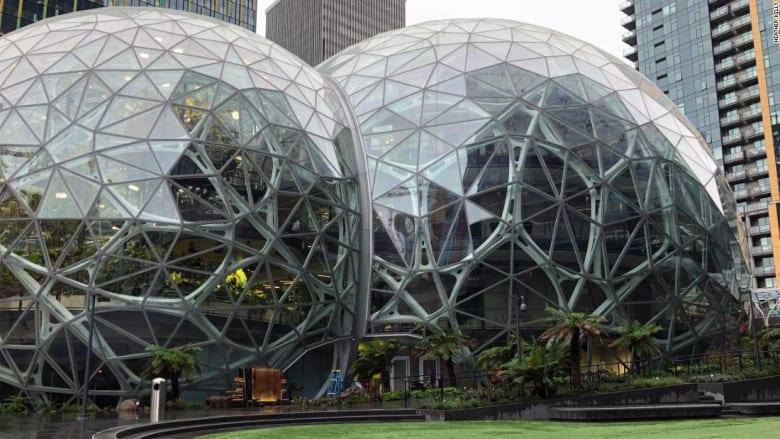 """أمازون تفتتح تصميم الكرات الزجاجية """"The Spheres"""" بأكثر من 400 فصيلة نباتية"""