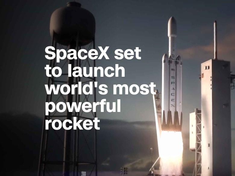 """""""سبيس إكس"""" تستعد لإطلاق صاروخ """"فالكون هيفي"""".. الأقوى في العالم"""