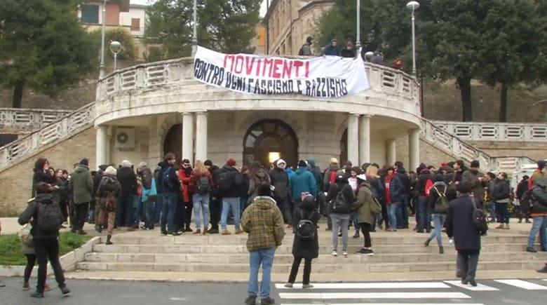 مظاهرات في إيطاليا ضد التمييز العنصري والفاشية