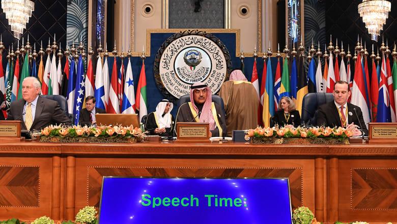 تيلرسون من الكويت: التحالف ضد داعش حرر 98% من أراضي سوريا والعراق