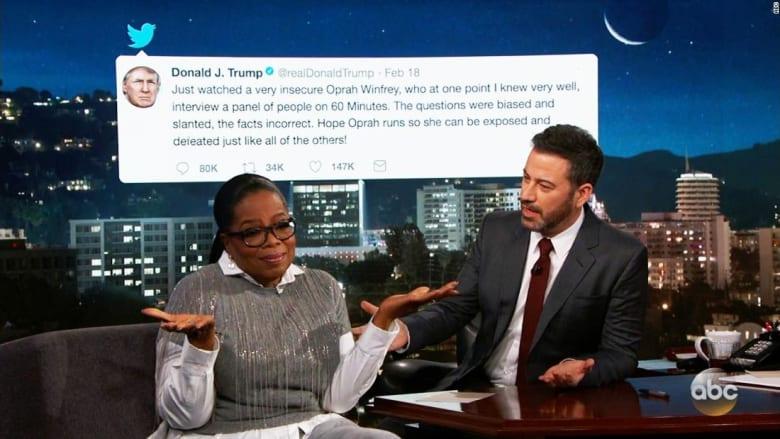 """بالفيديو... أوبرا وينفري ترد على وصف ترامب لها بالـ""""متزعزعة"""""""